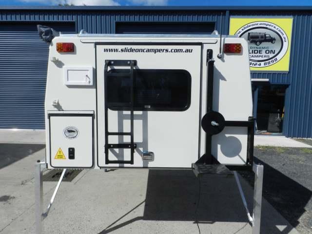 Swing out spare wheel holder, Gas locker, rear Ladder
